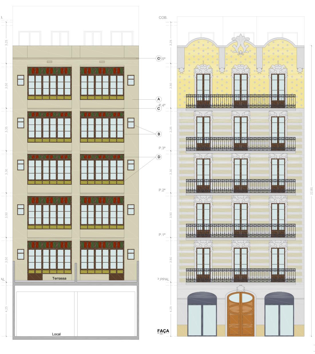 Rehabilitación integral de un edifico en Gran Via de les Corts Catalanes
